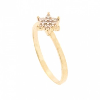Anel estrela pequena zirconia cristal. 140857
