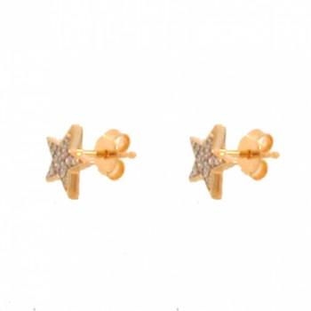 Brinco estrela media zirconia cristal. 150792