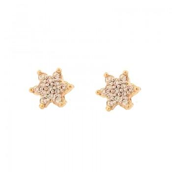 Brinco estrela pequena zirconia cristal. 151012