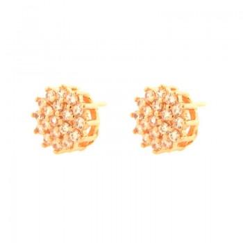Brinco chuveiro flor zirconia cristal. 151433