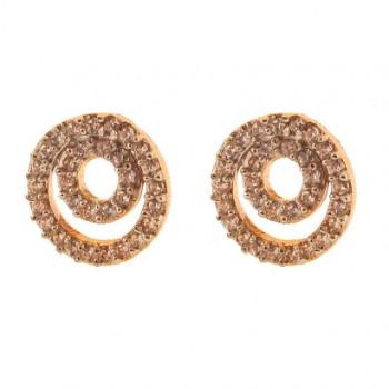 Brinco circulo maior e menor zirconia cristal. 151634