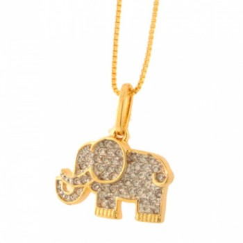 Colar elefante pequeno zirconia cristal. 160780
