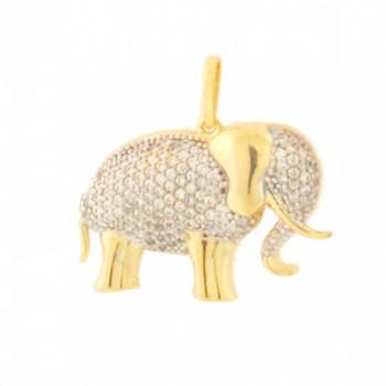 Pingente elefante zirconia cristal. 160927